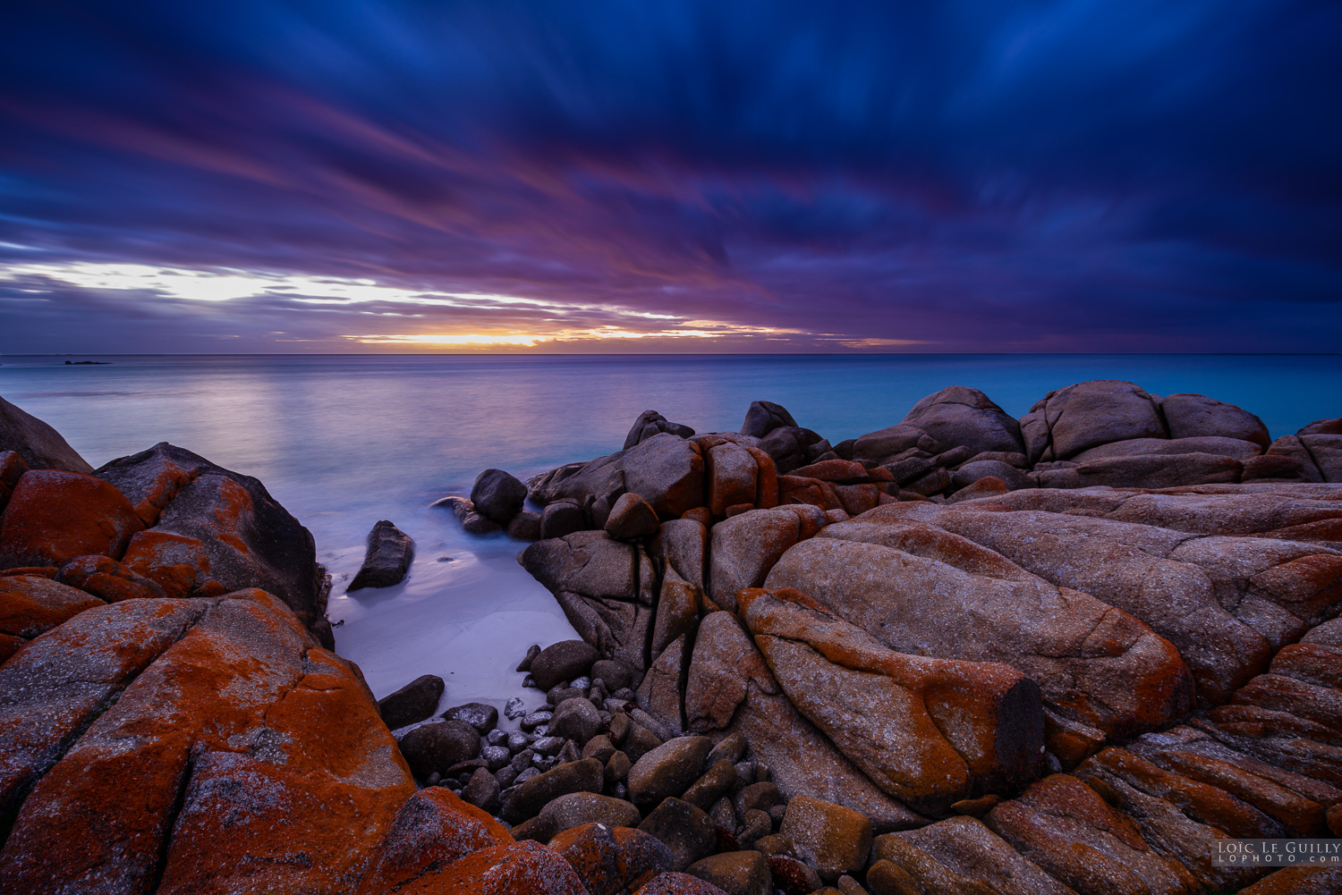 First light at the Bay of Fires